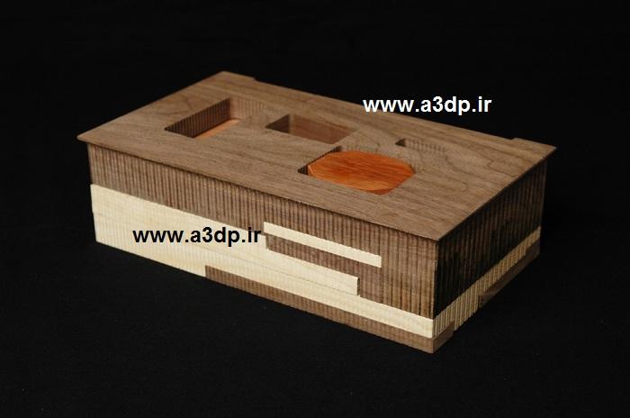 ماکت حجمی با چوب