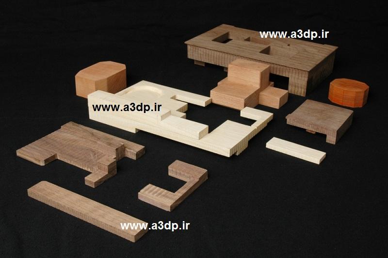 ماکت معماری با چوب